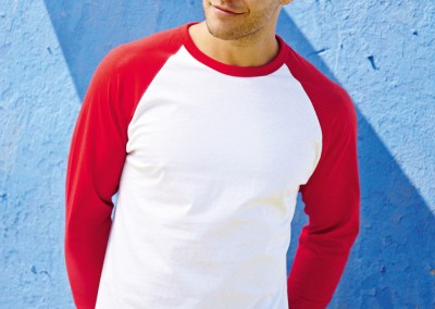 Fruit Of The Loom L/Sleeve Baseball T-Shirt (61028)