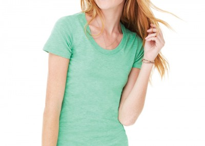 BE8413 Bella Women's Triblend Crew Neck T-Shirt